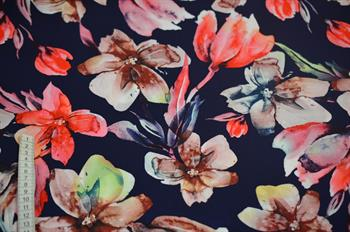 Viscose m/blomster