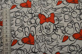 Økotex bomulds jersey m/Minnie Mouse