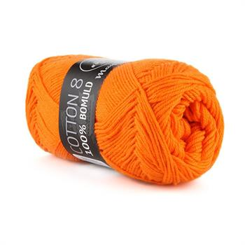 Cotton 8/4  klar orange